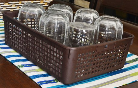 glassware-basket-organization