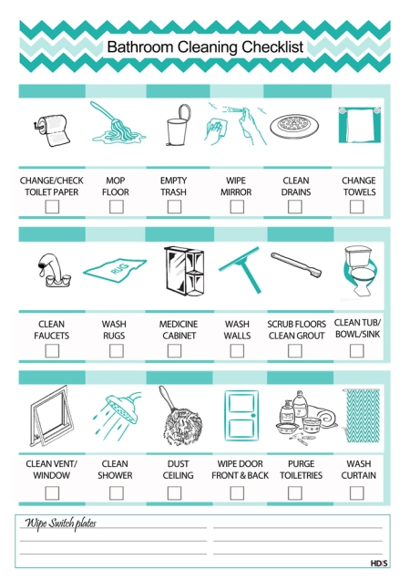 cleaning check list
