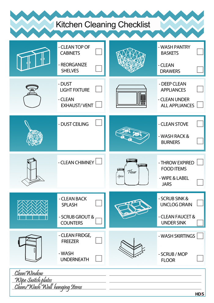 Kitchen Cleaning Checklist Home Design