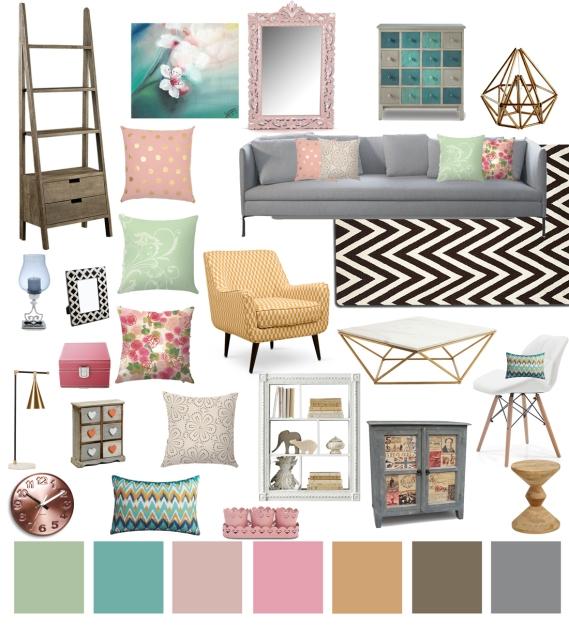 DECOR 101: Pastel Living Room