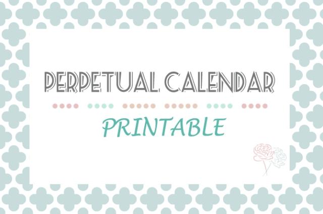 printable perpetual calendars