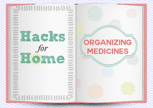how to organize medicines and ointments