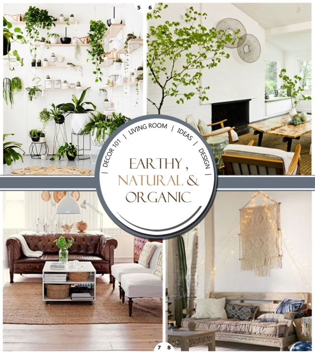 Organic living room decor ideas design your home with style for Natural living room design ideas