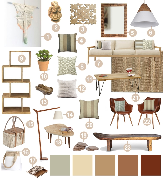 Decor 101 earthy natural organic living room design for Organic home decor