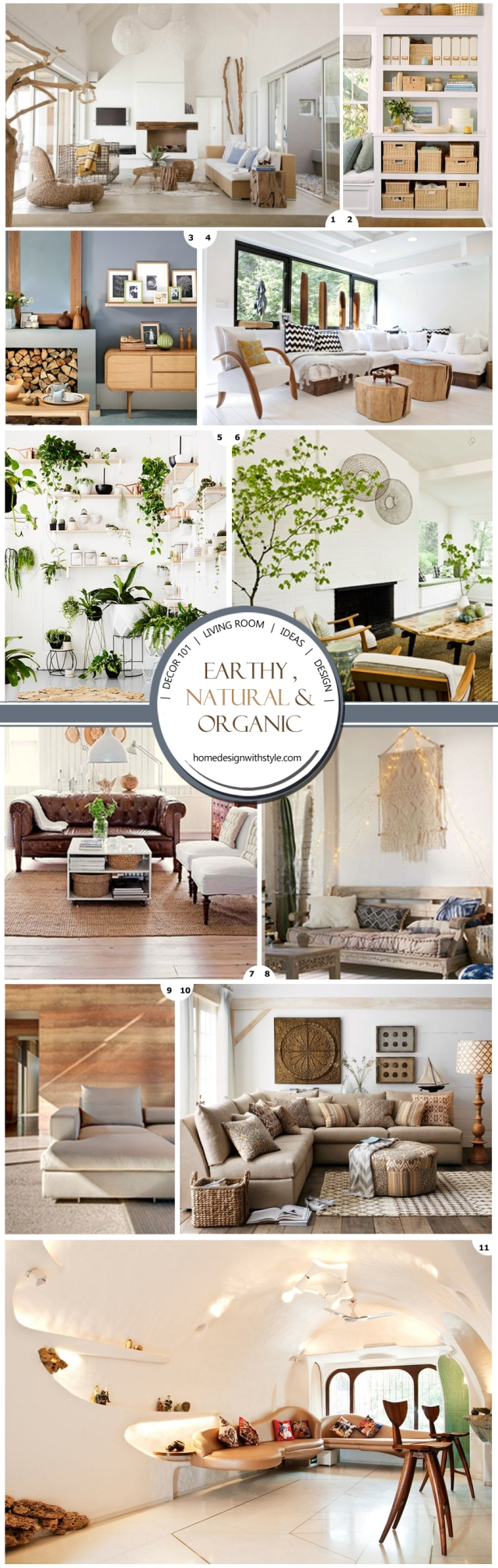 Earhty Natural Living Room Decor Pin