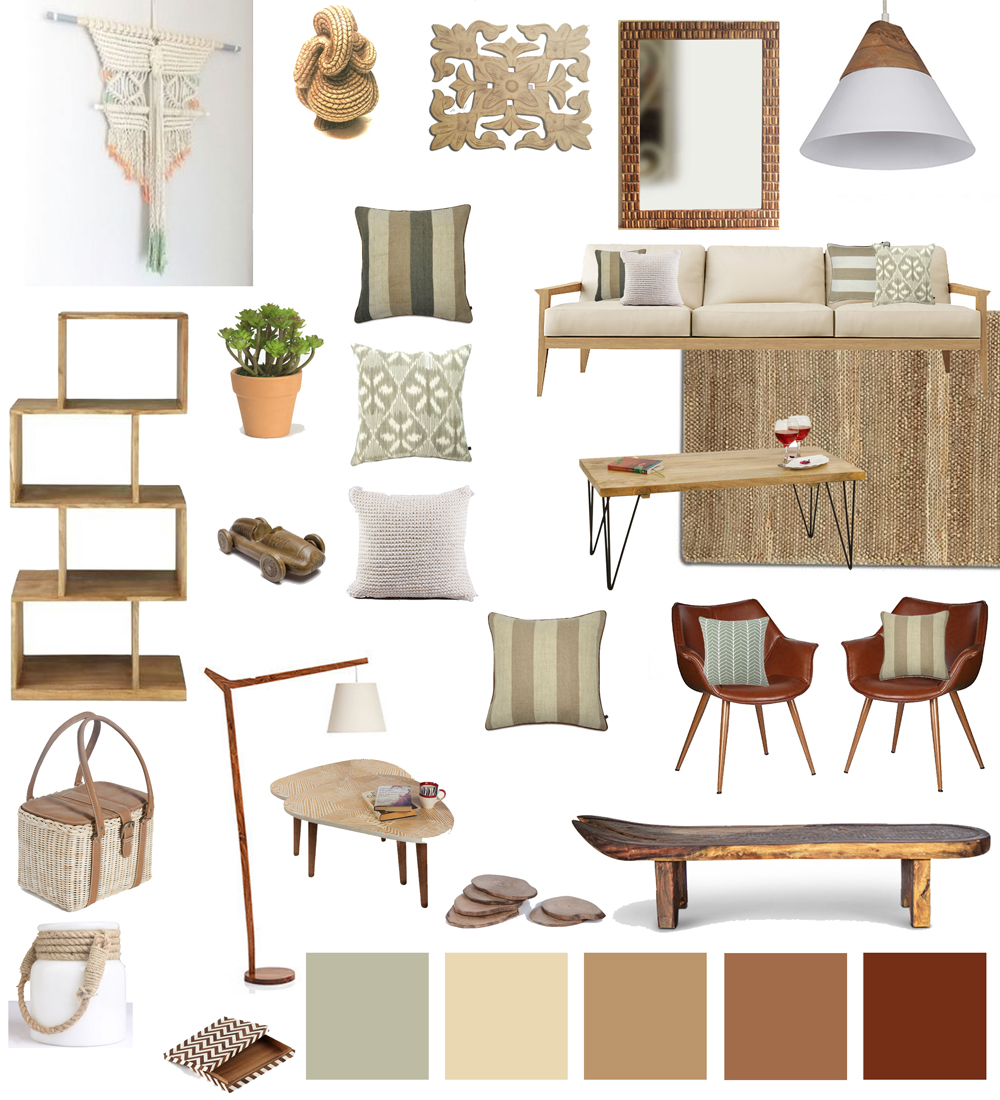 Lounge Room Accessories Part - 37: Earhty-natural-living-room-decor
