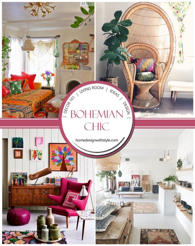 Bohemian Living Room Decor Header