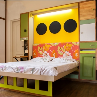 Indian home tour Neha Guest Bedroom Murphy Bed 1
