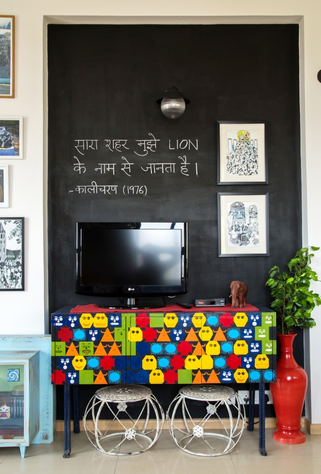 Indian home tour Neha Living Room Entertainment Centre