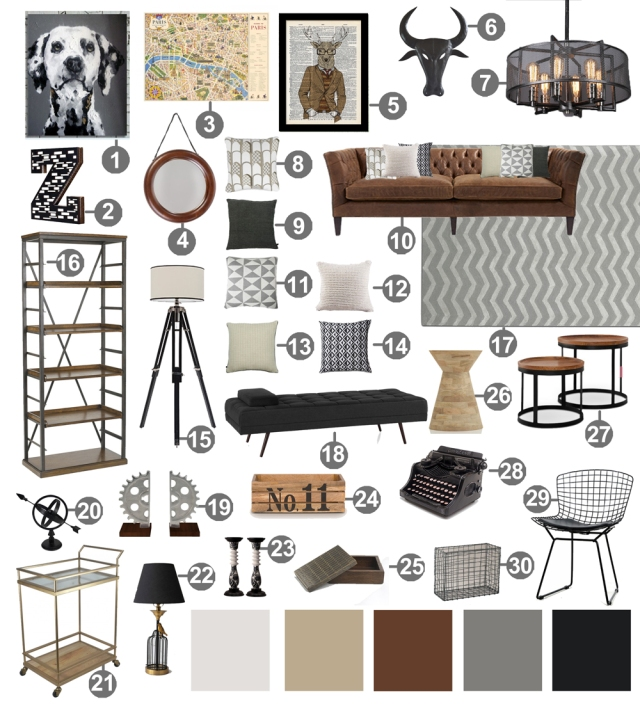 Industrial-Living-Room-Decor-moodboard-links