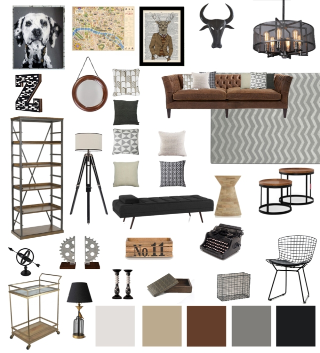 Industrial-Living-Room-Decor-moodboard