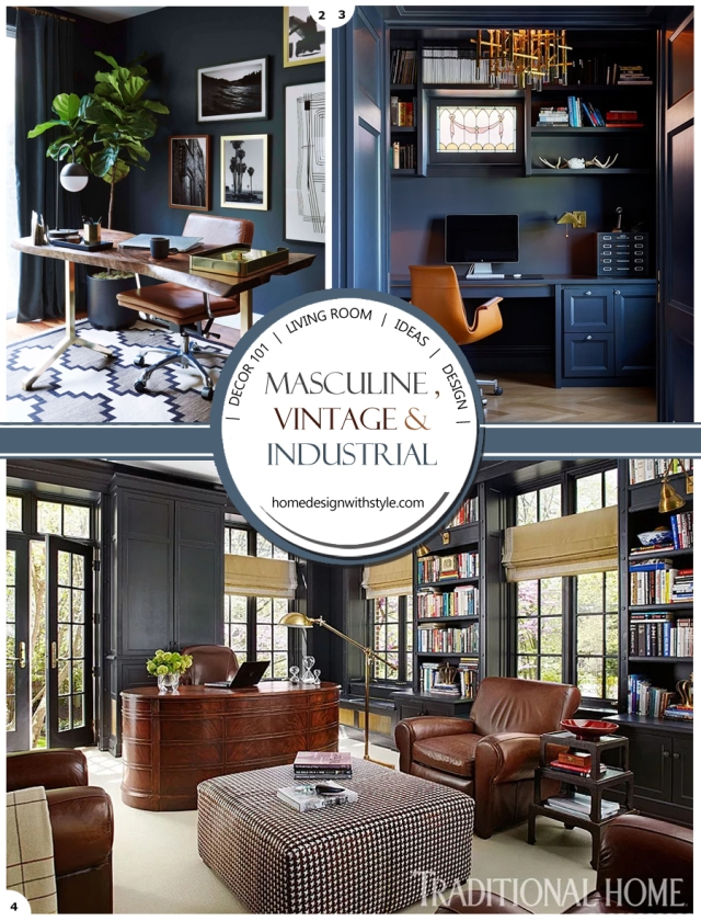 Vintage Industrial Living Room Decor Header